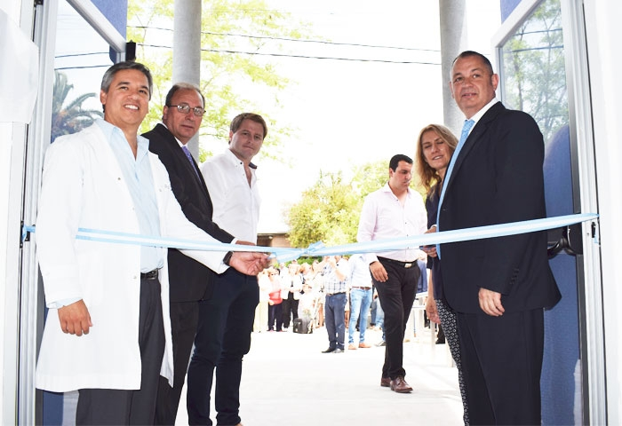 Capra y Cellillo inauguraron la nueva guardia del Hospital