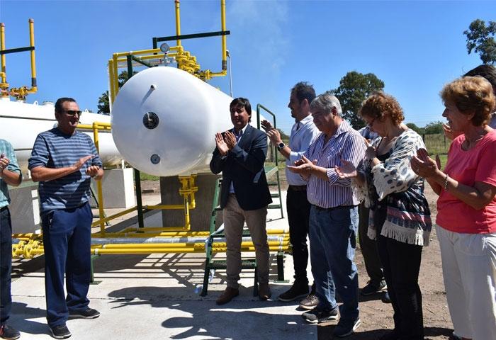 Acerbo amplió la obra de gas natural en Salazar