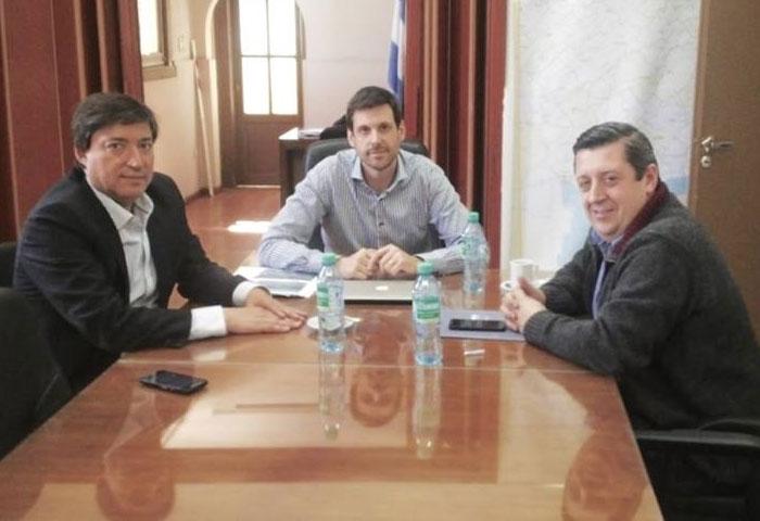 Acerbo anduvo de gestiones en La Plata