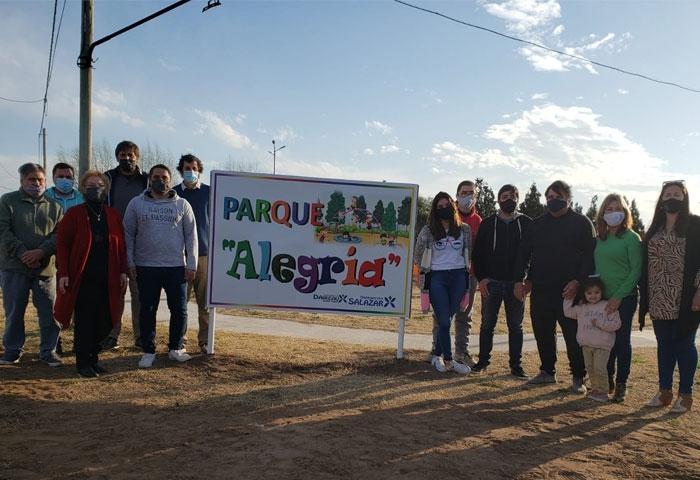 Acerbo inauguró el parque Alegría en Salazar