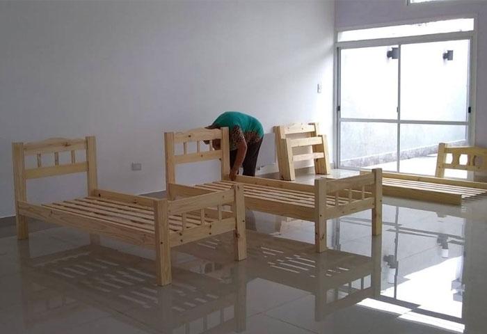 Acerbo prepara camas en ALCECAD