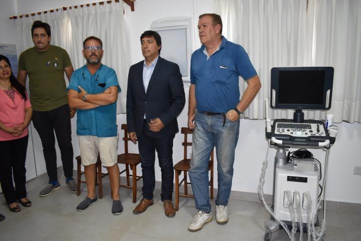 Acerbo presentó el nuevo ecógrafo para el Hospital