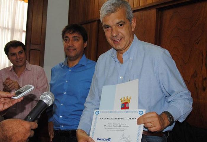 Acerbo recibió a Julián Domínguez