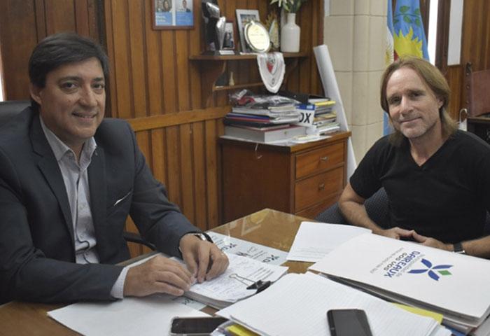 Acerbo se reunió con el referente regional de IOMA