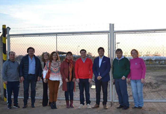 Acerbo visitó la nueva obra de gas en Salazar