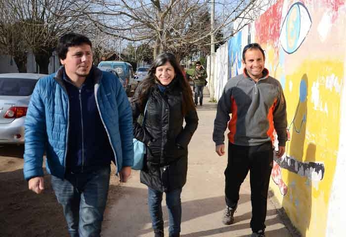 Aguilera y Vallejos visitaron Villa Aurora