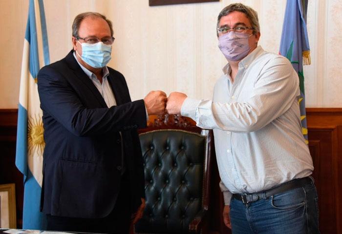Capra recibió al ministro Rodríguez