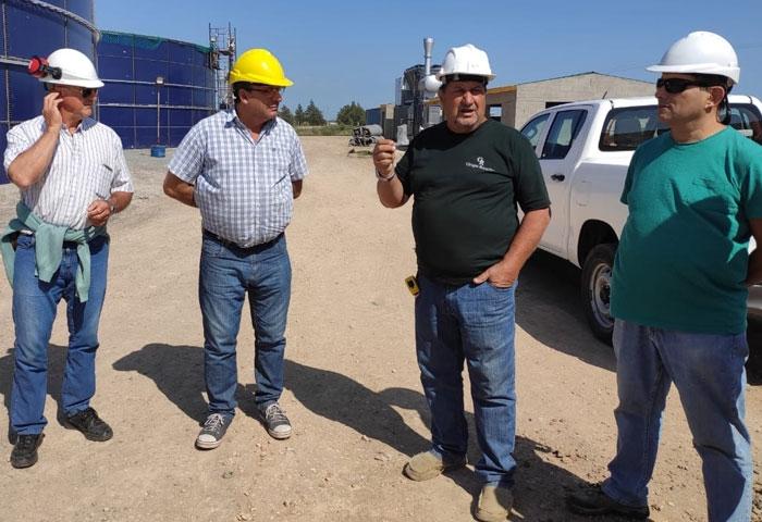 Capra recorrió la planta de biogas