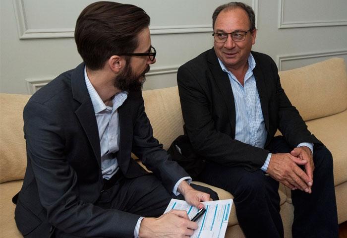 Capra se reunió con el ministro Simone