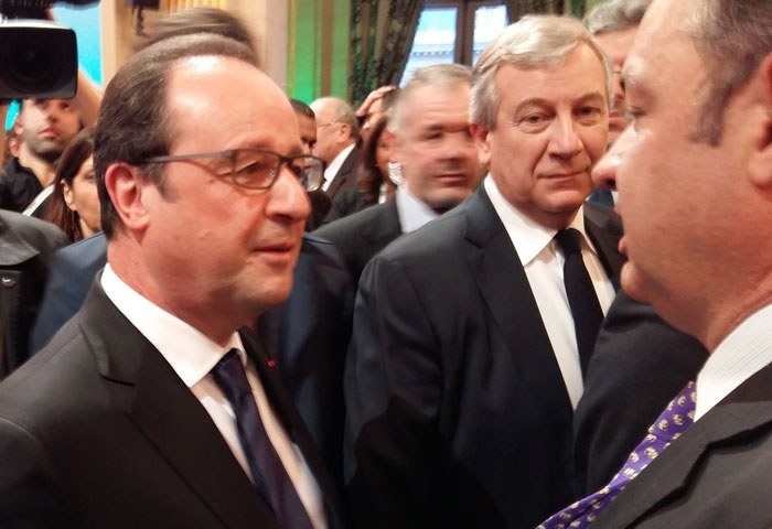 Cellillo estuvo con Hollande en París