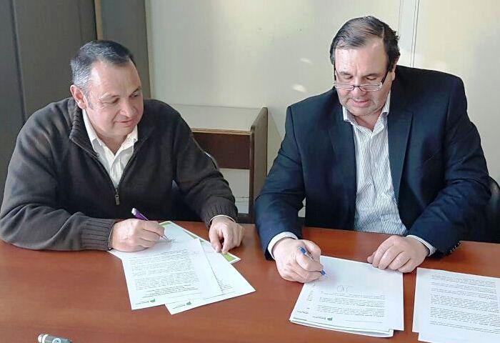 Cellillo firmó convenio con el OPDS