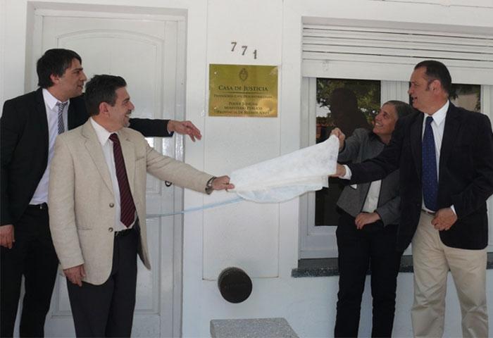 Cellillo inauguró la Casa de Justicia