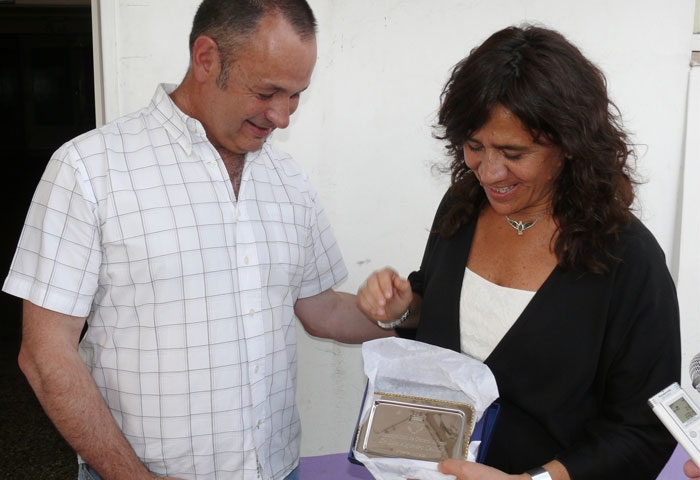 Cellillo recibió a la ministra Zulma Ortiz