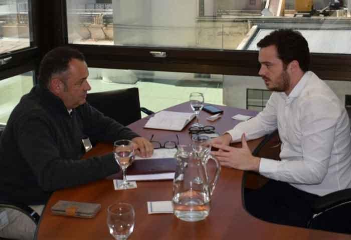 Cellillo se reunió con el ministro Scarsi