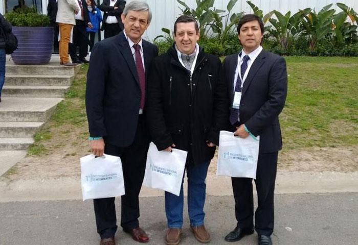 Cortés, Acerbo y Alvarez, con Macri