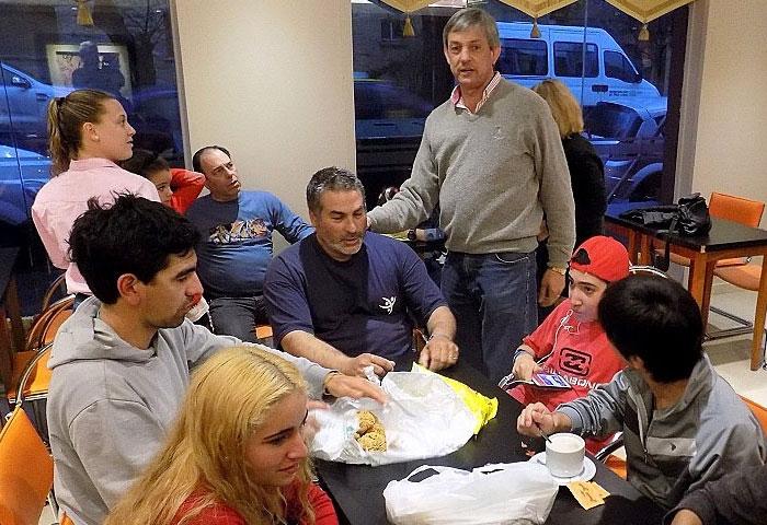 Cortés acompañó a la delegación en Mar del Plata