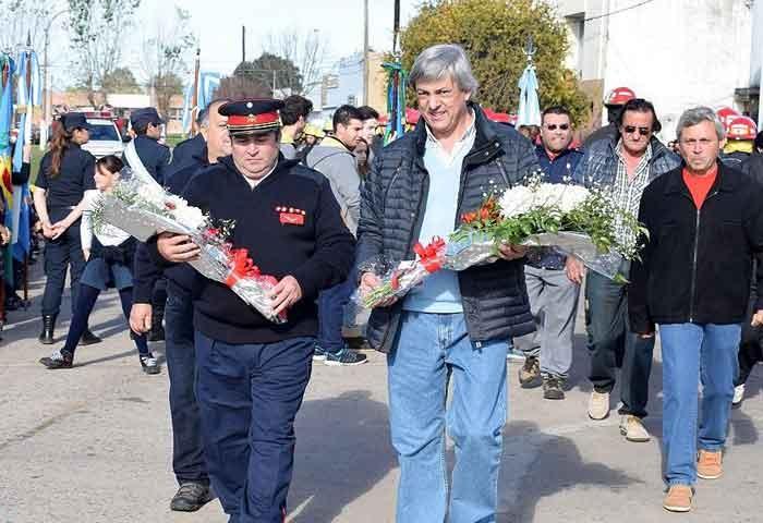Cortés encabezó el acto por el Día del Bombero
