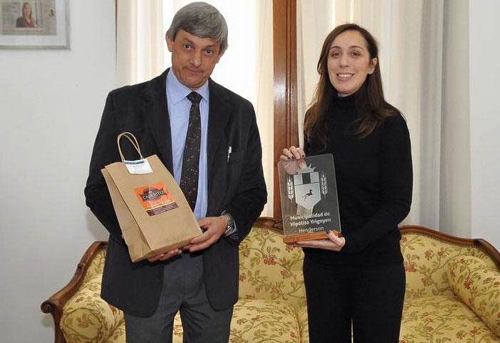 Cortés se reunió con la gobernadora Vidal
