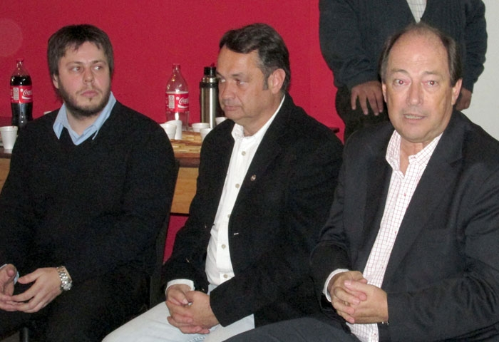 Elías Chorén recibió a Sánz en el comité UCR
