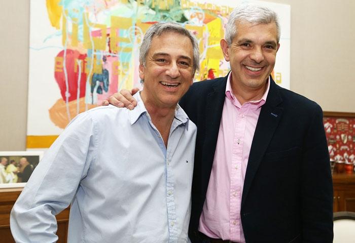 Eseverri recibió a Domínguez en el municipio
