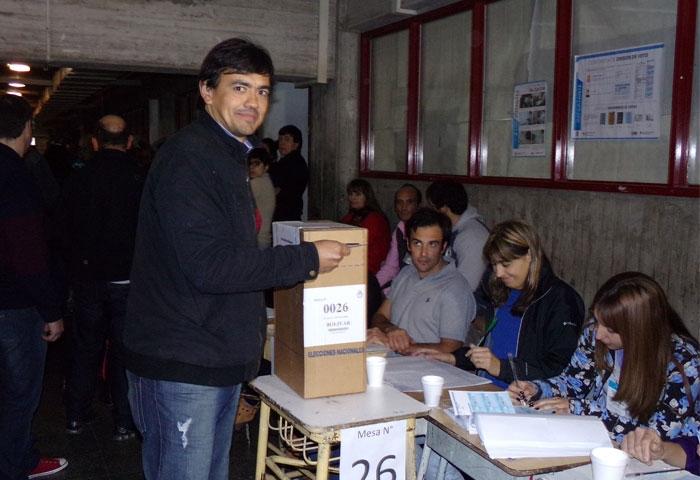 Ferreyra votó en la ex ENET