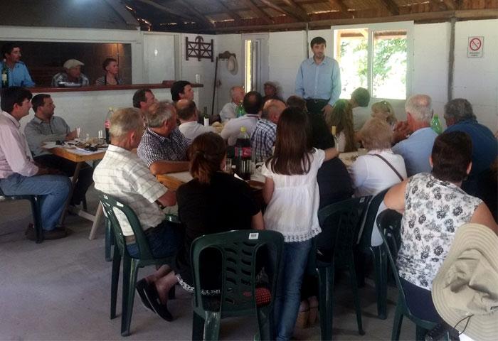 Galli visitó Espigas y Recalde