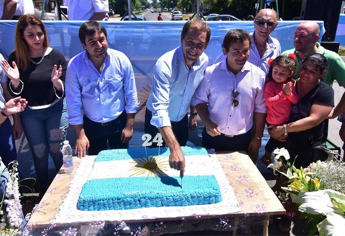 Garro participó del aniversario de San Carlos