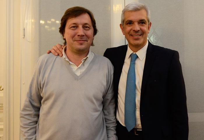 Guillermo Santellán se reunió con Julián Domínguez