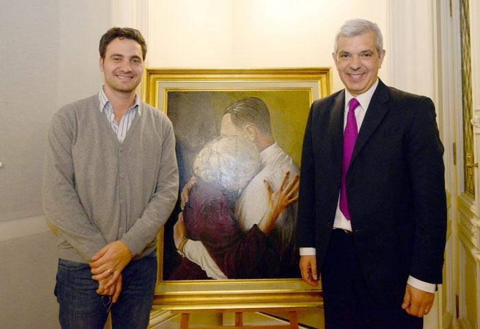 Julián Domínguez recibió a Santiago Cafiero