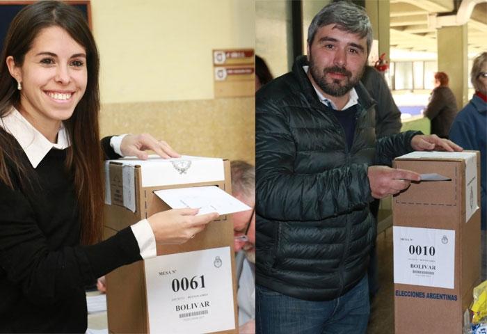 Laurita Rodríguez y Marcos Beorlegui ya votaron