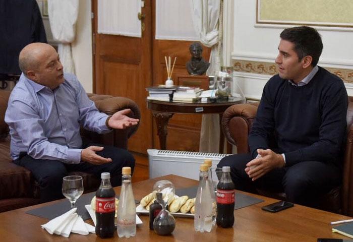 Manuel Mosca se reunió con Atilio Franco