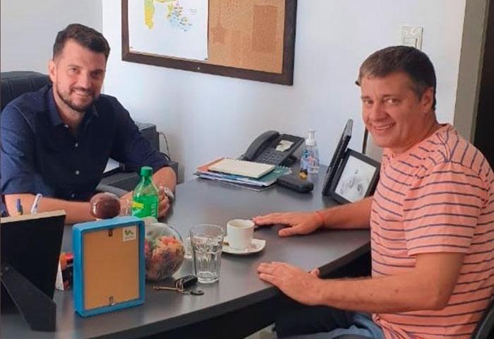 Morán se reunió con el diputado Carrara