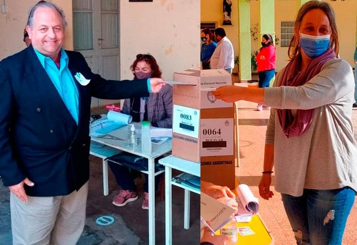 Pasucci y Ruiz emitieron su voto