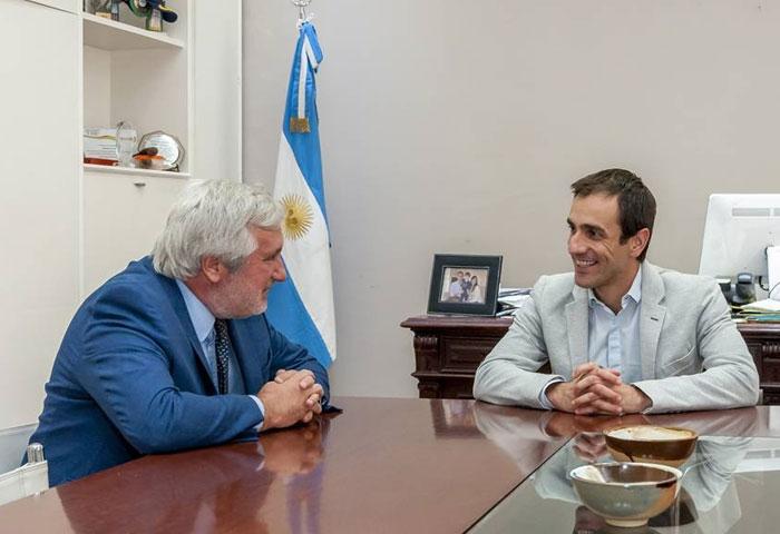 Petrecca recibió al procurador Julio Conte Grand