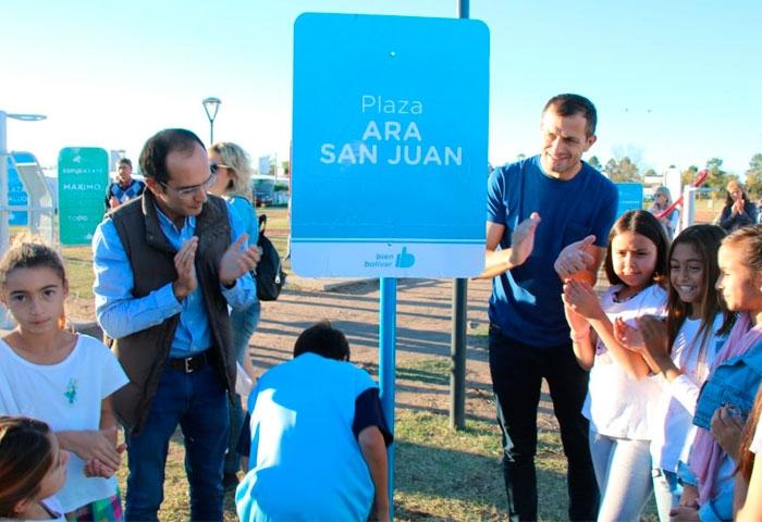 Pisano inauguró la plaza ARA San Juan