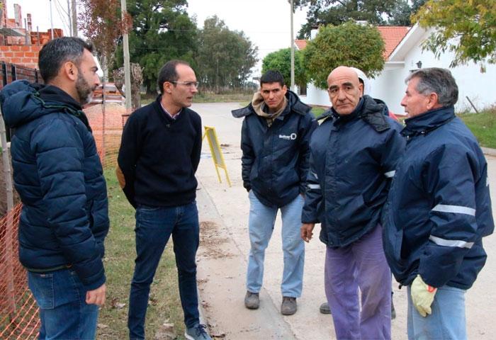 Pisano recorrió obras en diferentes barrios