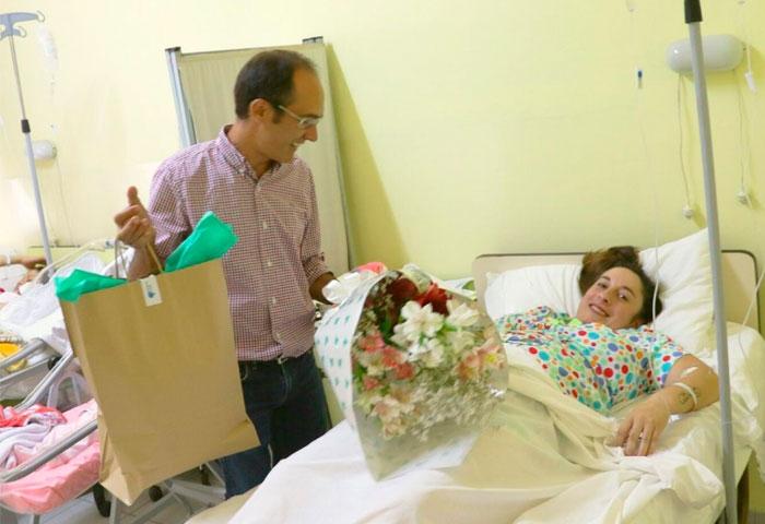 Pisano saludó al primer bolivarense nacido en 2020