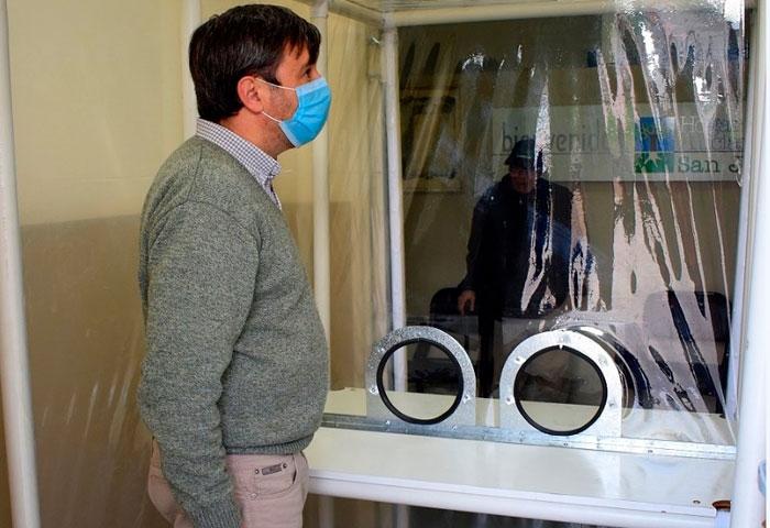 Pugnaloni instaló una cápsula de visitas cuidadas