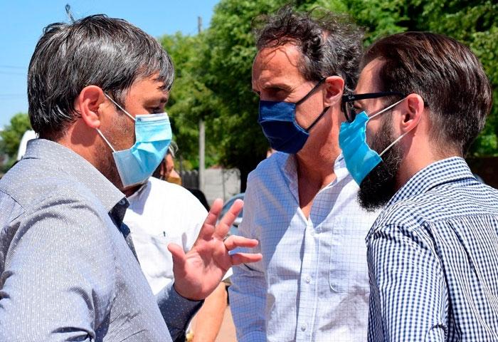 Pugnaloni recibió la visita de Katopodis y Simone