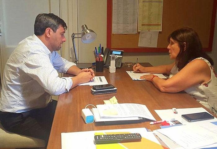 Pugnaloni se reunió con María Teresa García
