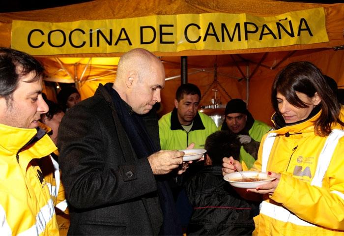 Rodríguez Larreta participó del Operativo Frío
