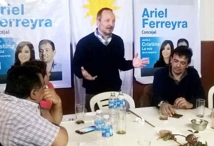 Sabbatella le brindó su apoyo a Ferreyra