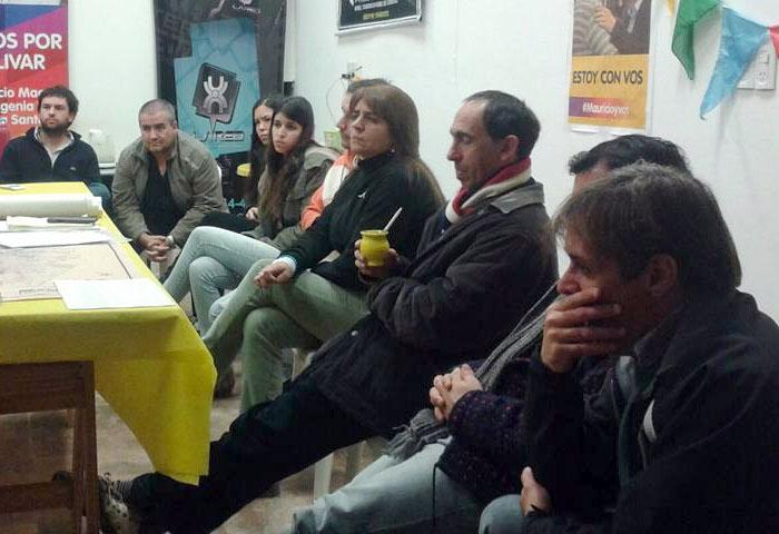 Sandra Santos se reunió con el grupo de Durquet