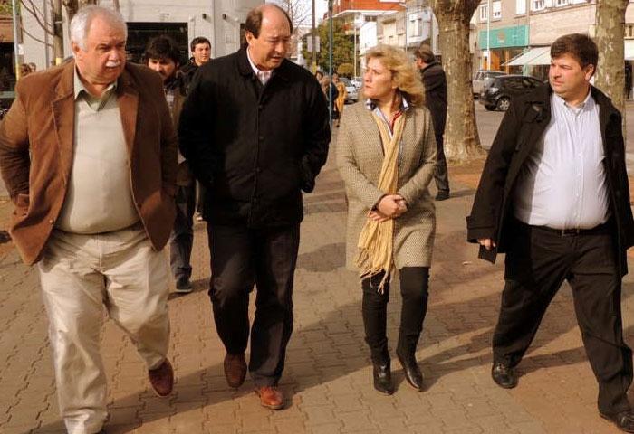 Sánz visitó Olavarría y se mostró con Cladera