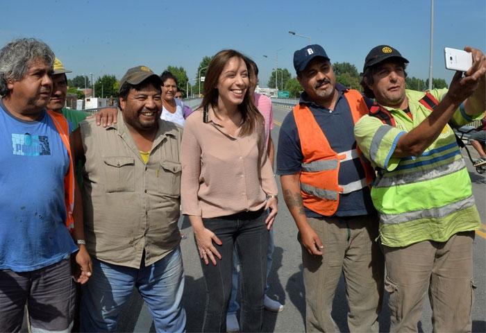 Vidal inauguró un puente en Tigre