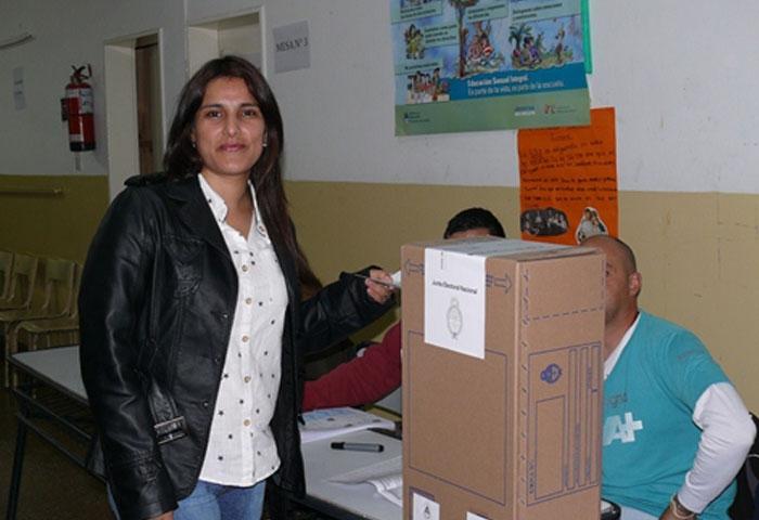 Votó Verónica Arrúa
